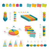 Collection of colorful infographic elements. Royalty Free Stock Image
