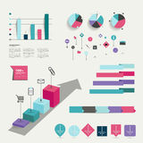Collection of colorful infographic elements. Stock Image