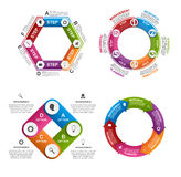 Collection of colorful infographics. Royalty Free Stock Photo