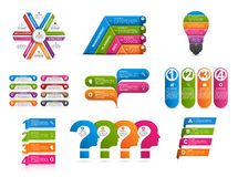 Collection of colorful infographics. Design elements. Vector illustration Royalty Free Stock Images