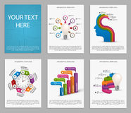 Collection of colorful infographics. Design elements. Royalty Free Stock Photography