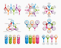Collection of colorful infographics. Design elements. Royalty Free Stock Image