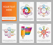 Collection of colorful infographics. Design elements. Stock Photos