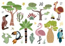Cartoon Vector African Animals royalty free illustration