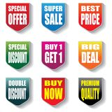 Collection label Banner promotion discount sale template vector illustration