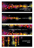 Color leaflet glamorous nights Royalty Free Stock Photos