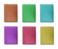 Collection of colorful leather cover note book Stock Photo
