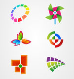 Collection colorful logo symbol icon  Stock Photography