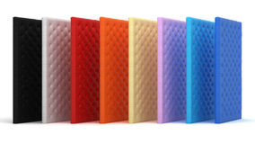 Collection of colorful luxury mattresses Stock Image