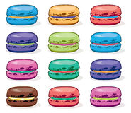 Vector collection of colorful macarons Stock Images