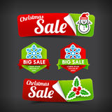 022 Collection of colorful Merry Christmas web tag banner promot Royalty Free Stock Photography