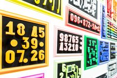 Collection of colorful numbers Stock Photos