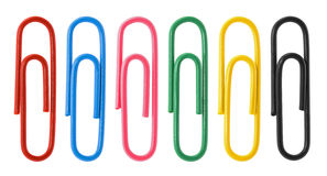 Collection of colorful paper clips Royalty Free Stock Photo
