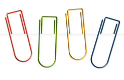 Collection of colorful paper clips - clamped Stock Photography