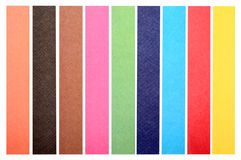 Collection of colorful paper Royalty Free Stock Photos