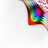 Collection of colorful papers Stock Images