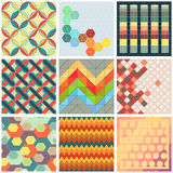 Collection of colorful patchwork backgrounds Royalty Free Stock Image