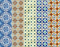 Collection of colorful patterns tiles Royalty Free Stock Image