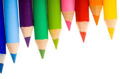 Collection of colorful pencils Royalty Free Stock Photos