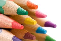Collection of colorful pencils Royalty Free Stock Photography