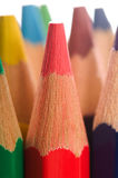 Collection of colorful pencils Royalty Free Stock Images