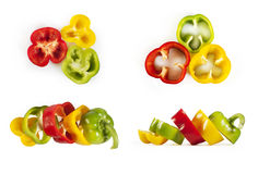 Collection of colorful peppers Royalty Free Stock Photos