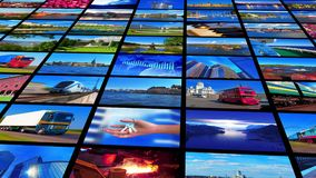 Collection of colorful photos stock video