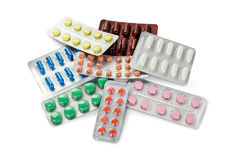 Collection of colorful pills Royalty Free Stock Photography