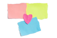 Collection of colorful post it paper note isolated Royalty Free Stock Images