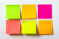 Collection of colorful post it paper note on white background Royalty Free Stock Photos