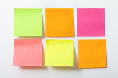 Collection of colorful post it paper note on white background Royalty Free Stock Images