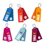 Collection of colorful price tags Royalty Free Stock Photos