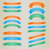 Collection of colorful  retro ribbons. Eps 10 Royalty Free Stock Photos
