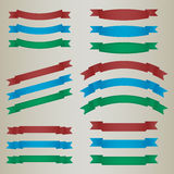 Collection of colorful retro ribbons. Vector eps 10 Royalty Free Stock Photo