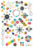 Collection of colorful round info graphics diagram Royalty Free Stock Photos