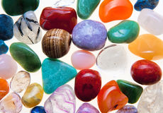 Collection of Colorful Semiprecious Gemstones. Royalty Free Stock Image