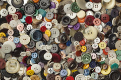 Collection of colorful sewing buttons Stock Photography