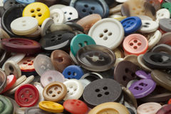 Collection of colorful sewing buttons Stock Image