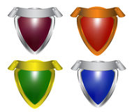Collection of colorful shield Stock Photography