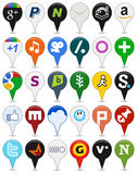 Collection of Colorful Social Media Icons [2] Royalty Free Stock Image