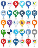 Collection of Colorful Social Media Icons [1] Royalty Free Stock Photos
