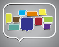 Collection of colorful speech bubbles and dialog Royalty Free Stock Images