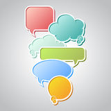 Collection of colorful speech bubbles and dialog Stock Photography