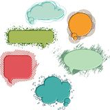 Collection of colorful speech bubbles and dialog Royalty Free Stock Photo