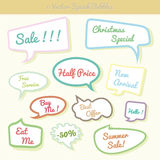 Collection of colorful speech bubbles Dialog Set Stock Image