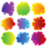 Collection of colorful speech bubbles. EPS 8 Stock Photo