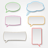 Collection of colorful speech bubbles Stock Photo