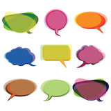 Collection of Colorful Speech And Thought Bubbles. Background Vector Royalty Free Stock Photography