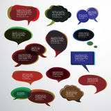 Collection of Colorful Speech And Thought Bubbles Background Vector Royalty Free Stock Images