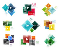 Collection of colorful square web boxes Royalty Free Stock Photography